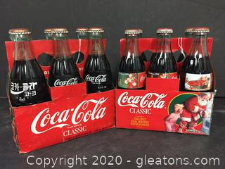 2 Six Packs Unopened Coca-Cola Classic - Christmas & Around the World (c)