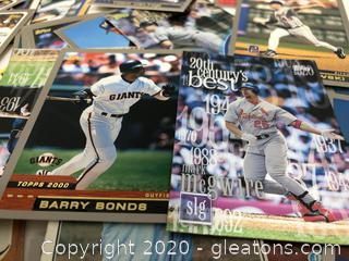 Topps Trading Cards with Mark McGuire, Barry Bonds, 60's & 70's Team Players