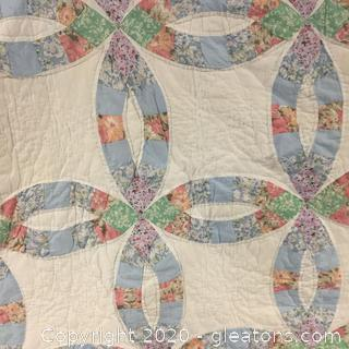 Quilt – Full Size Double Wedding Ring Pattern