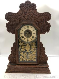 Antique Mantel Clock with Key