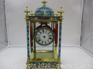 Antique Cloisonné Clock