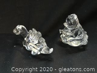 Two German crystal figures