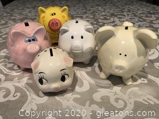 5 Piggy banks