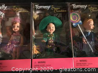 Three little Munchkin dolls, Kelly and Tommy
