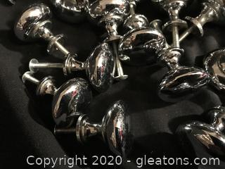 40 Heavy silver door pulls