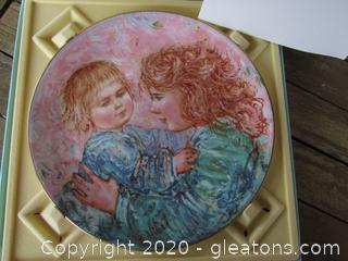 """Royal Doulton """"Kathleen and Child"""" Limited Edition -- Sixth of a Series  1981 Plate is 8 1/4 in diameter  Artist Edna Hibel  comes in box"""
