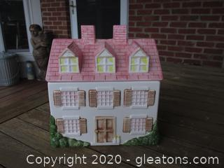 Vintage Sigma House Cookie Jar see photo for issue / made in Japan