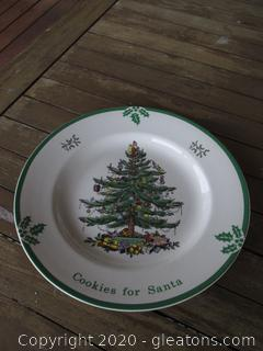 Spode Cookies for Santa Plate Made in England 10 3/4 inches in Diameter