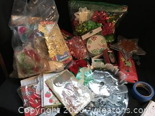 Box of Christmas things