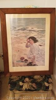 Jessie Wilcox Smith Print - Girl with Seashell