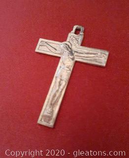 French Silver Crucifix