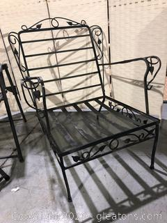 Wrought Iron Vintage Outdoor Arm Chair