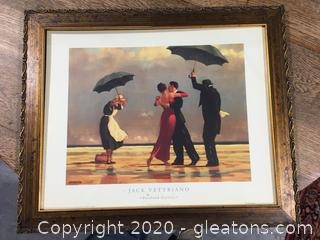 'The Singing Butler' Framed Print by Jack Vettriano