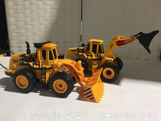 2 Remote Control Front Loader Construction Toys
