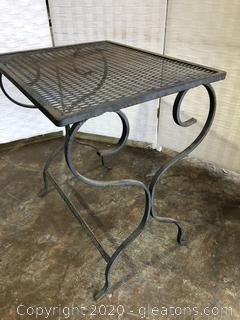 Outdoor Cast Metal Accent Table B