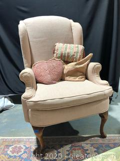 Vintage Wing Back Chair by Null