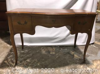 Vintage French Provincial 2 Drawer Lift Top Vanity
