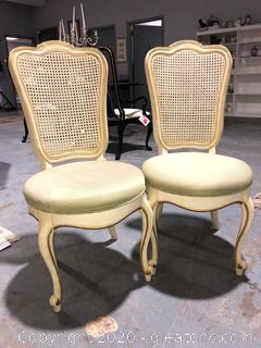 2 Vintage Thomasville French Provincial Dining Chairs (b)