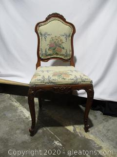 Antique Louis XV Upholstered Accent Chair