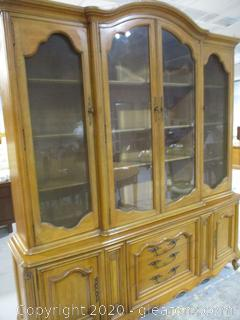 Vintage China Cabinet by Strafford House Fine Furniture