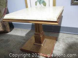 Small Marble Top Accent Table B