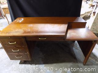 Large Mid-Century Desk by Standard Furniture Company