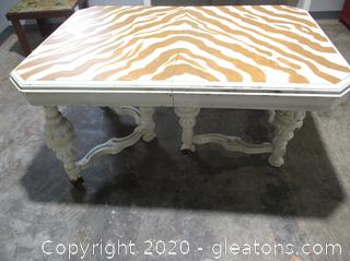 DIY Project - Zebra Dining Table