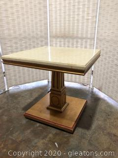 Small Marble Top Accent Table (A)