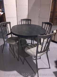 Vintage Refurbished Table 4 Chairs
