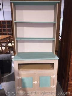 Repainted China Hutch and Cabinet