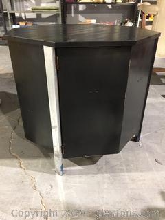 DIY Black Solid Wood End Table