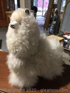 Mini Alpaca Plush Toy Made with Real Fur