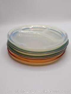 Set of 4 Frys Heat Resistant Glass Plates