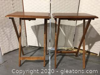 Wood Serving Tables (Pair)