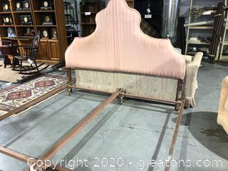 DIY Project - King Size Upholstered Headboard and Rails
