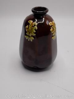 Peters + Reed Deep Brown Bottle Vase