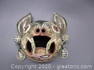 Hand Crafted Metal Tribal Mask
