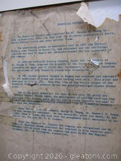 Vintage Roseville Pottery Letter