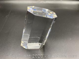 Original `Pisa' Cut Sculpture in Solid Crystal by Jan Johansson From Orrefors Gallery