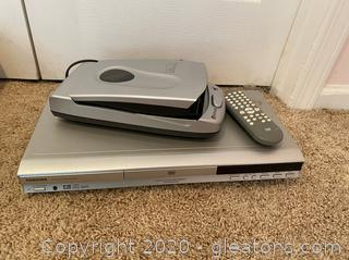 Toshiba DVD/Video Player and Kinyo VHS Rewinder