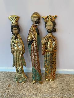 Hand Painted Wooden 3 Wise Men
