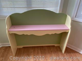 Pink and Green Desk Hutch