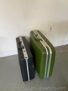 Vintage Hardshell Suitcase and Briefcase