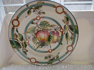 Large Decorative Wall Plate From Italy