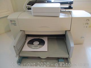 HP Model 1772C Desk Jet Color Printer + 3 Hole Punch