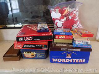 Lot of Board Games and Flashcards