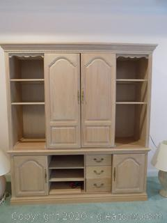 Entertainment Center with Sliding Doors