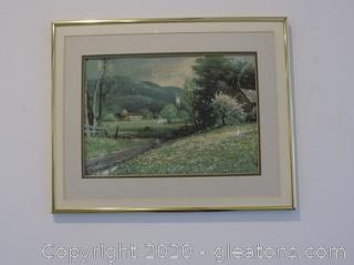 """Early Spring"" Lithograph Signed/Numbered by: Robert Wood"