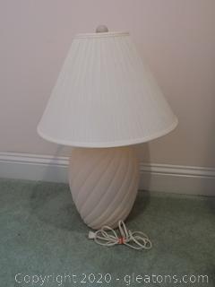 Light Pink Vintage Urn Style Lamp