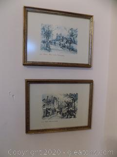 Set of 2 Framed Paris Prints